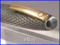 Sheaffer Vintage White Dot Sterling Silver Fountain Pen-fine point