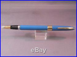 Sheaffer White Dot Blue Snorkel Set in box-fine point