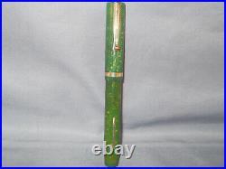 Sheaffer White Dot Flat Top Jade Fountain Pen-extra-fine point-Senior size