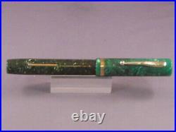 Sheaffer White Dot Flat Top Jade Fountain Pen-extra-fine point-full sized