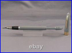 Sheaffer White Dot Gray Snorkel fountain pen-working-X-4 extra fine point