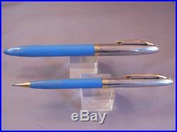 Sheaffer White Dot Sentinel Cap Snorkel fountain pen and pencil -F-5 fine point