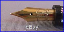 Sheaffer l4k Gold Lifetime Large Nib with short section and feed-fine point