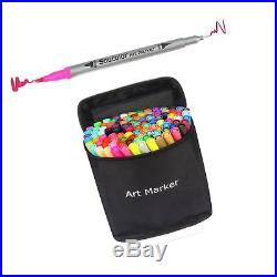 Soucolor 100 Colors Dual Tip Brush Pen Coloring Journaling Pens Fine Point Ar
