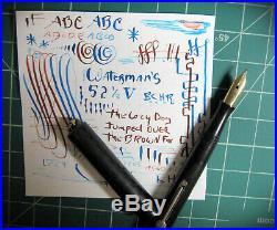 Sturdy X Fine Point Flex Waterman 52 1/2 V 14k #2 Gold Nib Fountain Pen vtg BCHR