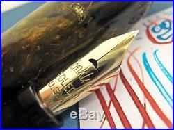 Vtg Conklin Endura Ring Top Semi Flex X Fine point Nib Fountain Pen NICE COLOR