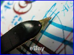 Vtg Waterman 1940s 14KGold Nib Fine Point with Flex Fountain Pen Made in CANADA