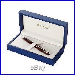 Waterman Carene Amber Fountain Pen, 18K Solid Gold Nib, Fine Point, S0700860 NEW