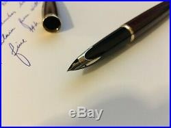Waterman Carene Amber Shimmer Fountain Pen, Fine Point