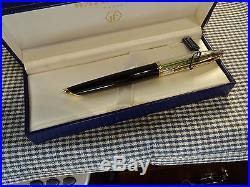 Waterman Carene Deluxe Black & Silver Fountain Pen 18k Fine Point Nib
