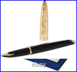 Waterman Carene Essential Black GT Fine Point Fountain Pen (NEW)