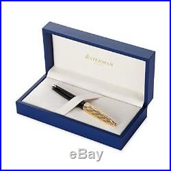 Waterman Carene Essential Black GT Fine Point Fountain Pen (S0909750)