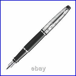 Waterman Expert 3 Deluxe Fountain Pen Black Medium Pt Pen New In Box