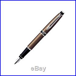 Waterman Expert City Line Urban Brown Fountain Pen Fine Point New In Box