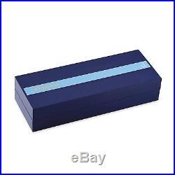 Waterman Expert Fountain Pen Blue Obsession Chrome Trim Fine Point 1904580