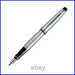 Waterman Expert Fountain Pen Stainless Steel Chrome Trim Fine Point S095204