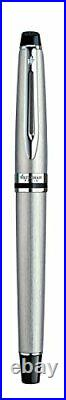 Waterman Expert Rollerball Pen Stainless Steel with Chrome Trim Fine Point wi