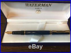 Waterman Laureat Shadowed Blue Fountain Pen Fine Point Nib