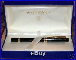 Waterman Rhapsody Mineral Green 18K Gold Fine Pt Fountain Pen New In Box