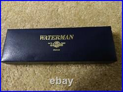 Waterman Silver Plated 18k Gold Fine Point Nib Fountain Pen, France Made